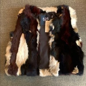 NWT 525 America Cropped fur vest